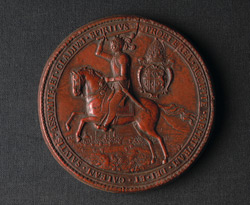 Red Seal Showing Bishop Nathaniel Crew as Prince Palatine with the City of Durham in the Background